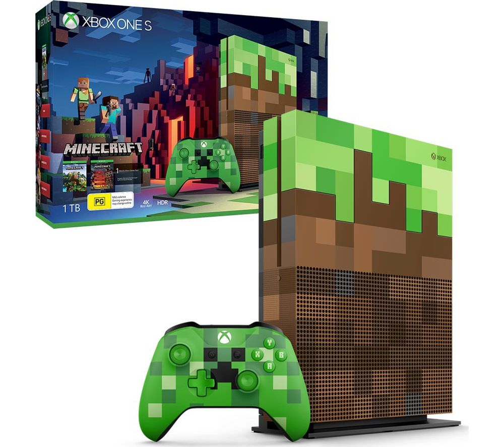 microsoft xbox one s minecraft limited edition deals pc. Black Bedroom Furniture Sets. Home Design Ideas