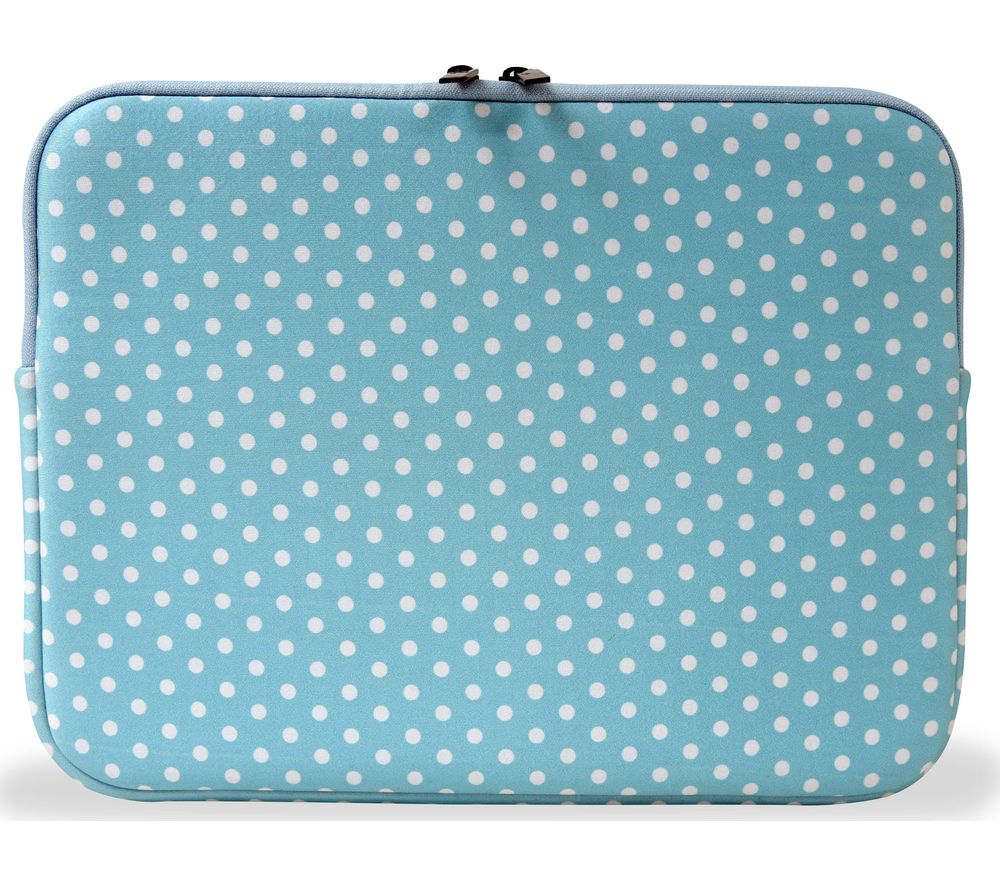 "Image of GOJI 14"" Laptop Sleeve - Blue & White, Blue"