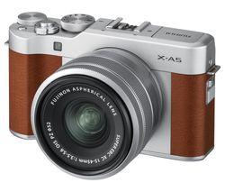 FUJIFILM X-A5 Mirrorless Camera with FUJINON XC 15-45 mm f/3.5-5.6 OIS PZ Lens - Brown