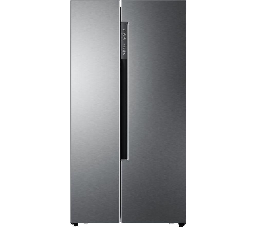 HAIER American-Style Fridge Freezer Silver HRF-522DG6, Silver
