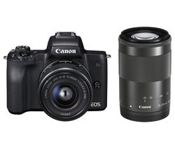 EOS M50 Mirrorless Camera with EF-M 15-45 mm f/3.5-6.3 IS STM & 55-200 mm f/4.5-6.3 IS STM Lens