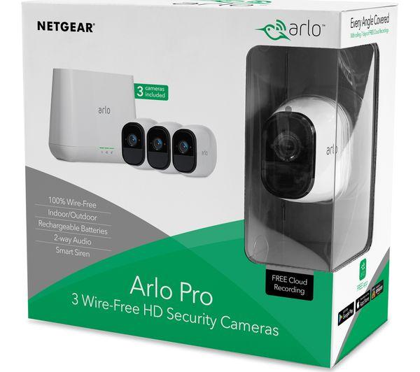 Arlo Security System 3 Wire Free Hd Cameras | Arlo Pro Vms4330 100eus Wireless Cctv System 3 Cameras