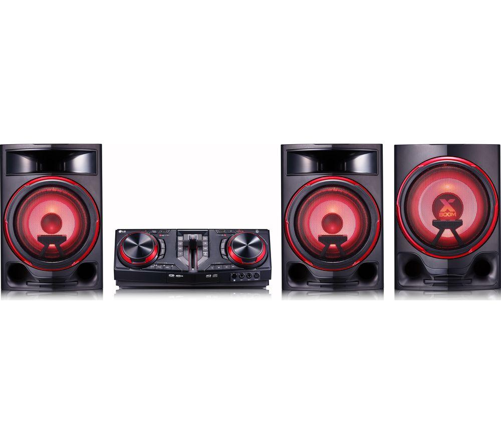 LG CJ88 Bluetooth Megasound Party Hi-Fi System - Black