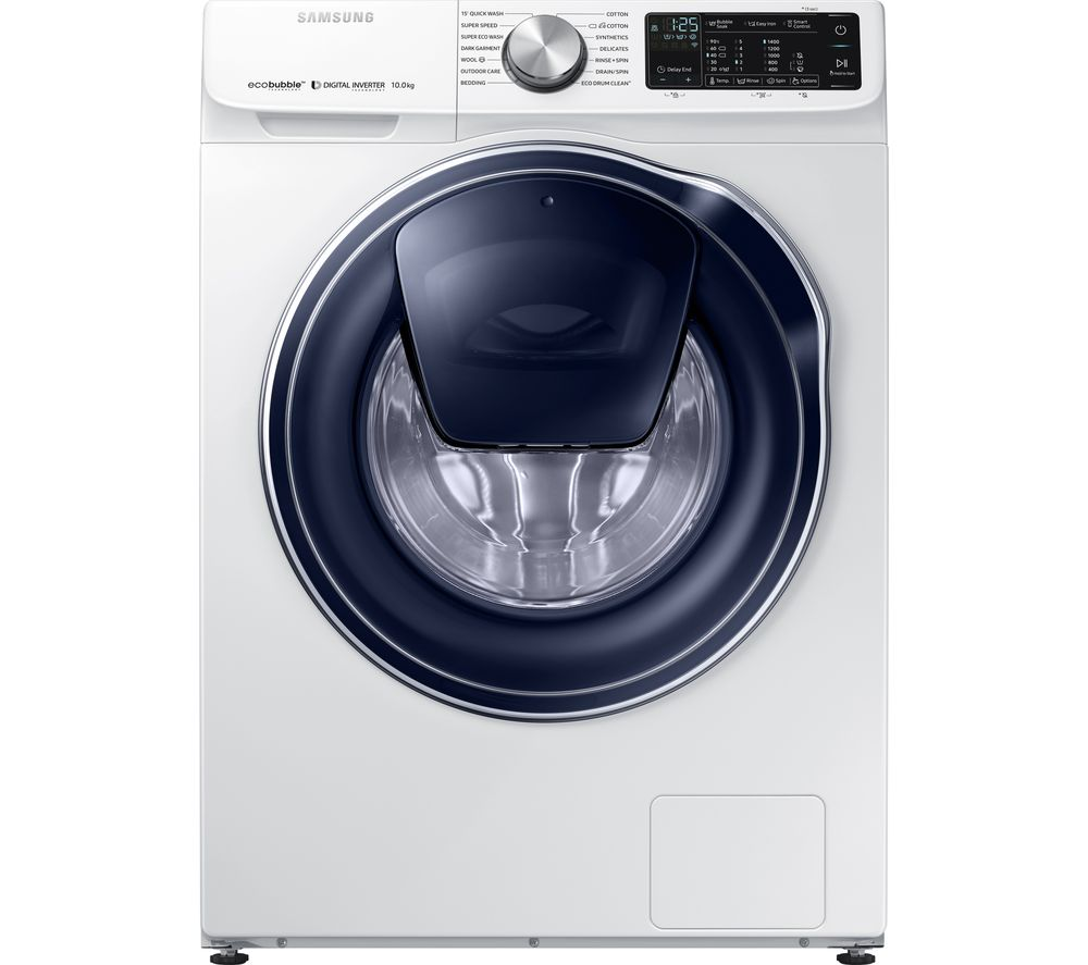 SAMSUNG AddWash WW10N645RPW/EU Smart 10 kg 1400 Spin Washing Machine - White