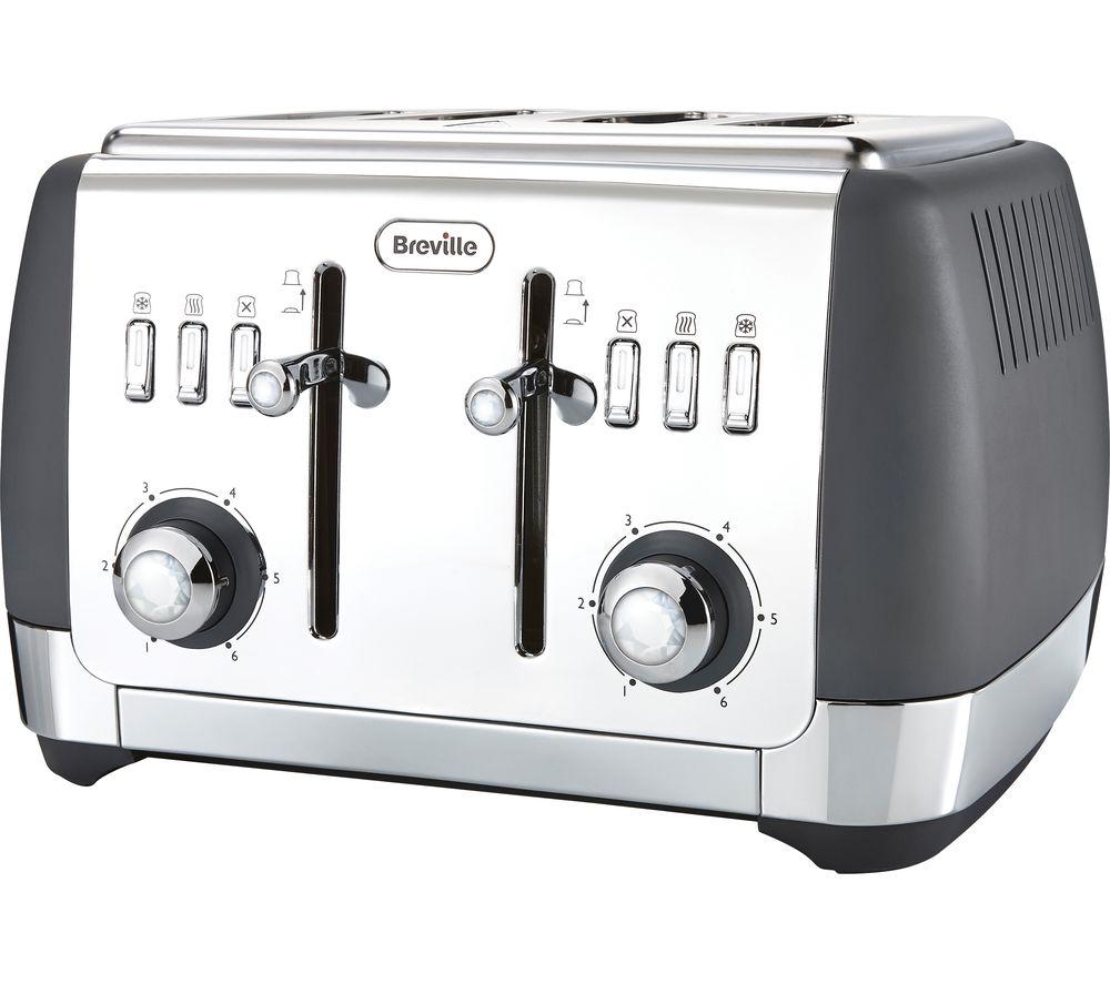 Image of BREVILLE Strata VTT764 4-Slice Toaster - Grey, Grey