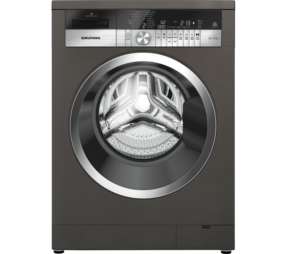 GRUNDIG GWN48430CG 8 kg 1400 Spin Washing Machine - Graphite, Graphite