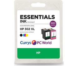 ESSENTIALS HP 302XL Black & Tri-colour Ink Cartridges