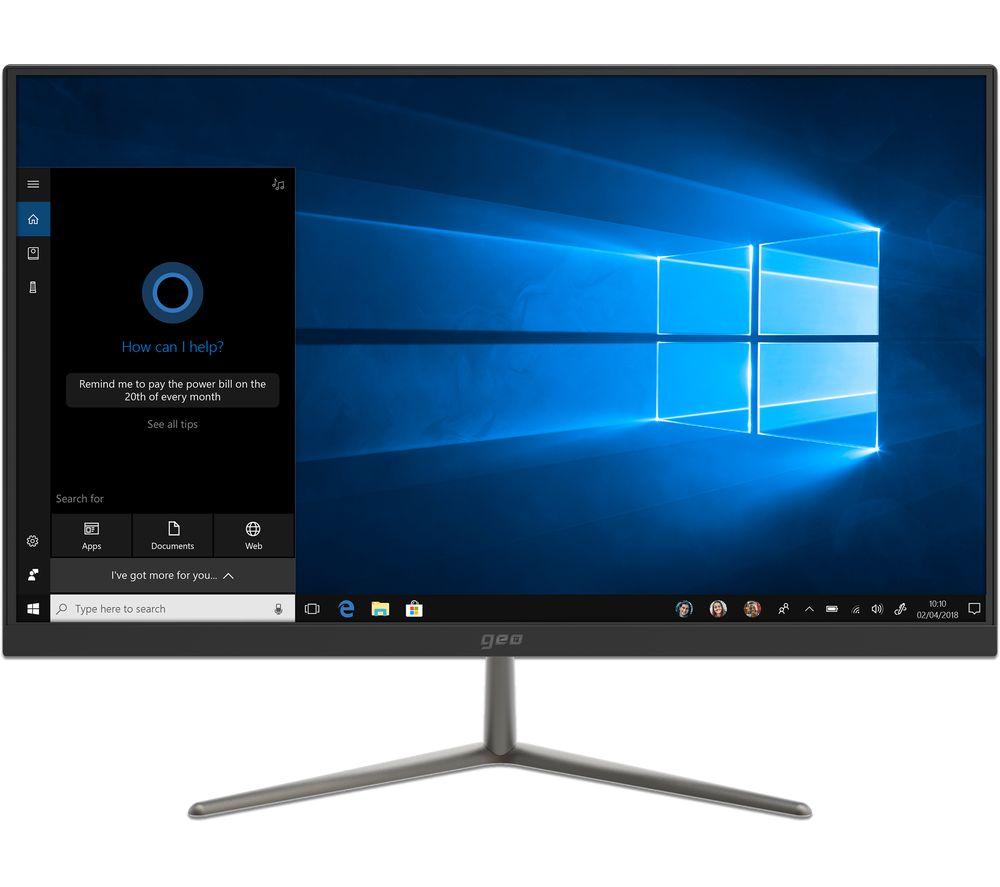 """GEO Hub 23.8"""" Intel® Celeron® All-in-One PC - 1 TB HDD, Black"""