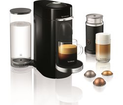 NESPRESSO by Magimix Vertuo Plus Coffee Machine with Aeroccino - Piano Black