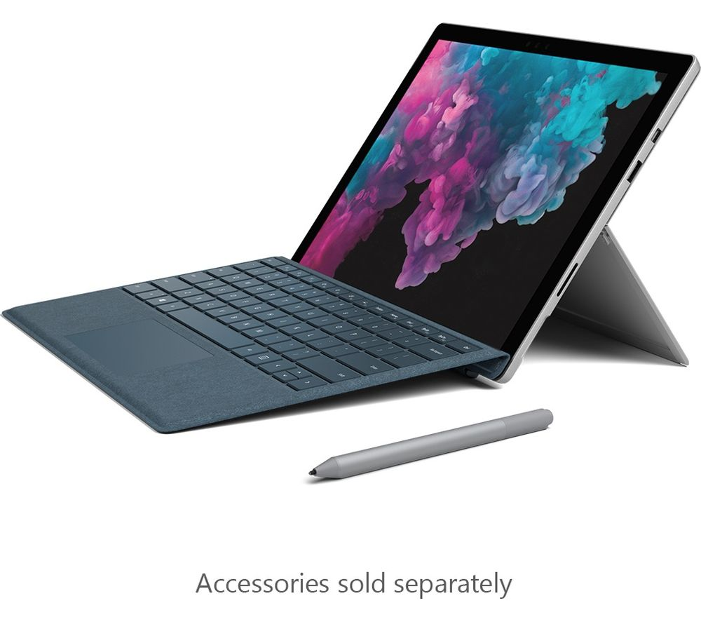 "MICROSOFT Surface Pro 6 12.3"" Intel® Core™ m3 Laptop - 128 GB SSD, Platinum"