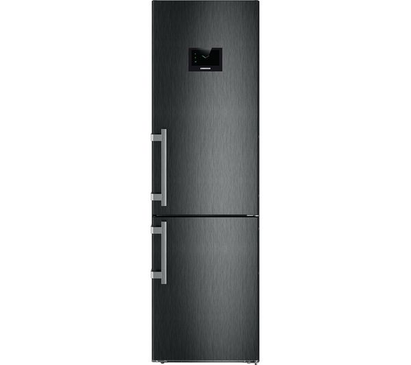 Image of LIEBHERR CBNPbs4858 60/40 Fridge Freezer - Black Steel