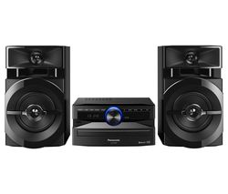 PANASONIC SC-UX100E-K Bluetooth Megasound Party Hi-Fi System - Black