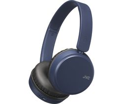 JVC HA-S35BT-A-U Wireless Bluetooth Headphones - Blue