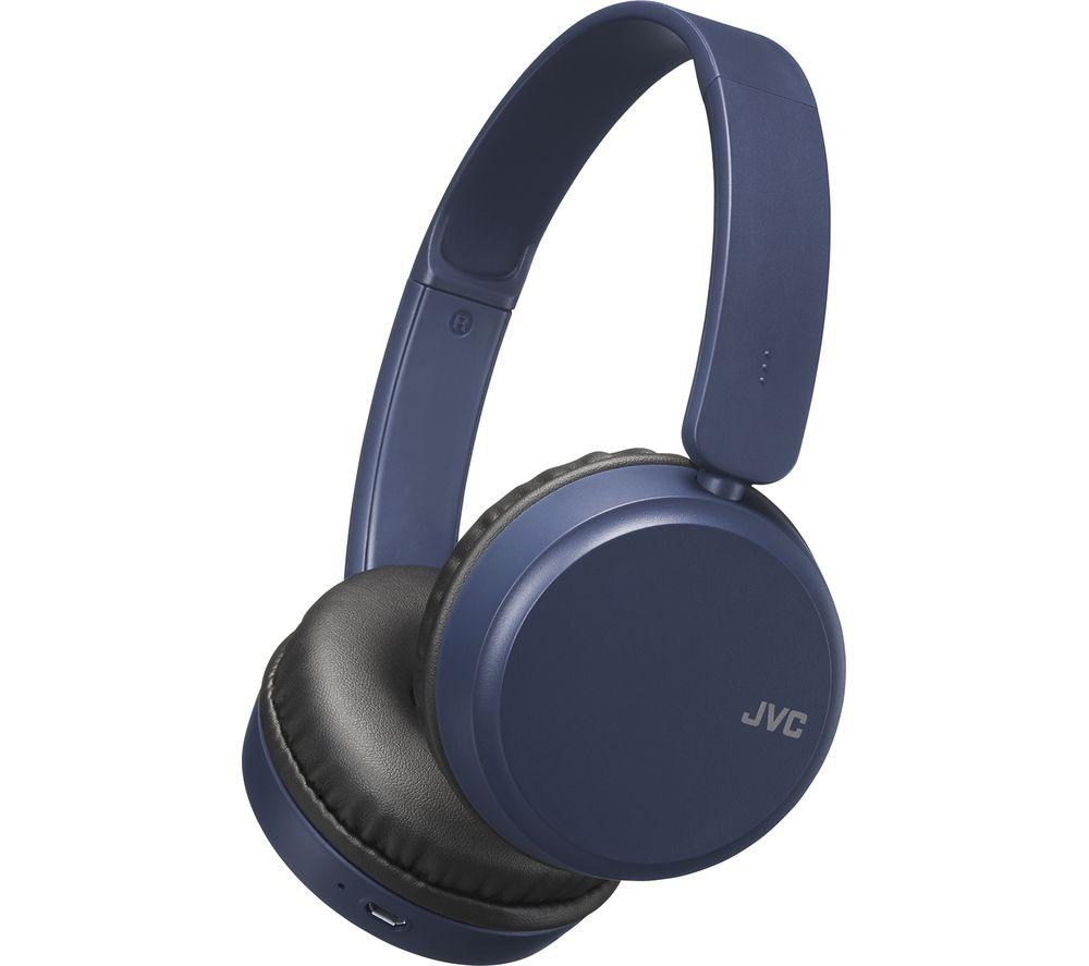 JVC HA-S35BT-A-U Wireless Bluetooth Headphones - Blue