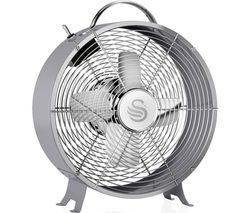"SWAN Retro SFA12630GRN Portable 8"" Desk Fan - Grey"