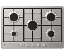 CANDY CHW7X Gas Hob - Stainless Steel