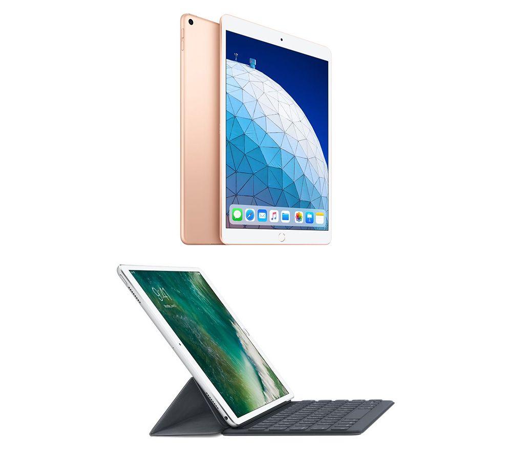 "Image of 10.5"" iPad Air (2019) & Smart Keyboard Folio Case Bundle - 64 GB, Gold, Gold"