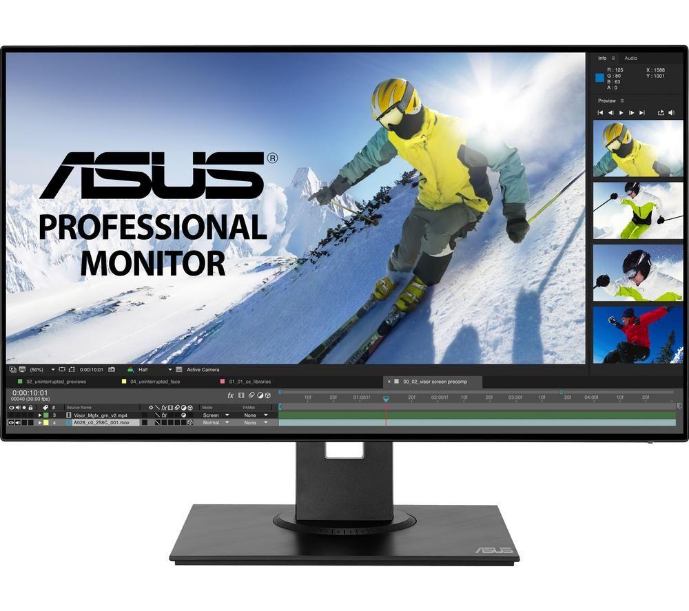 """ASUS PB247Q Full HD 23.8"""" IPS LCD Monitor - Grey"""