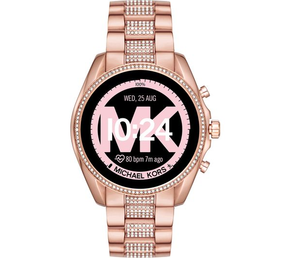 Image of MICHAEL KORS Access Bradshaw 2 MKT5089 Smartwatch - 44 mm, Pavé Rose Gold