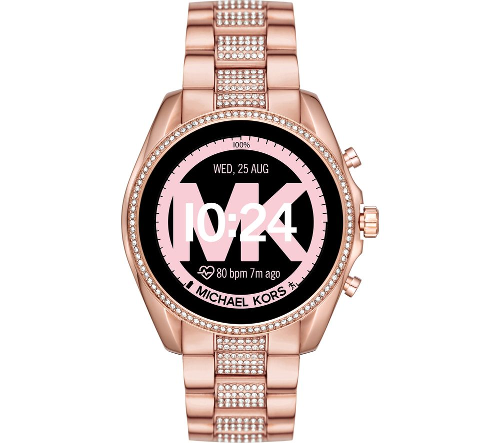 Image of MICHAEL KORS Access Bradshaw 2 MKT5089 Smartwatch - 44 mm, Pav? Rose Gold, Gold