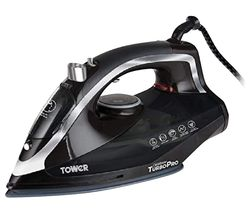 TOWER TurboPro T22007N Steam Iron - Black Best Price, Cheapest Prices