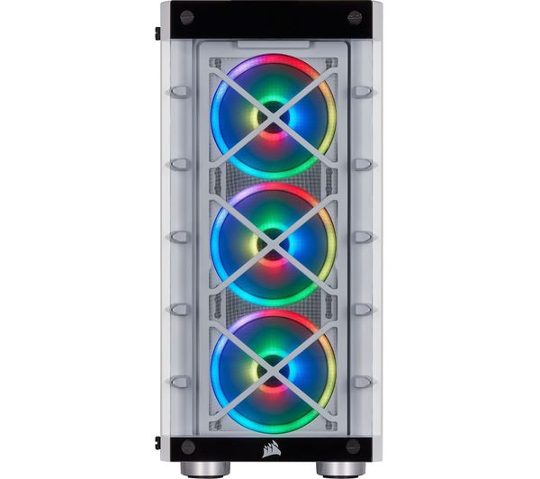 Buy CORSAIR iCUE 465X RGB ATX Mid-Tower PC Case - White | Free Delivery |  Currys