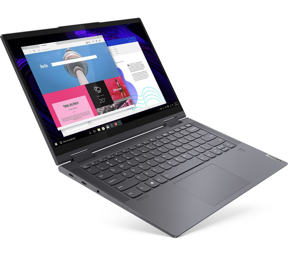 "Image of LENOVO Yoga 7i 14"" 2 in 1 Laptop - Intel®Core™ i5, 256 GB SSD, Slate Grey, Grey"