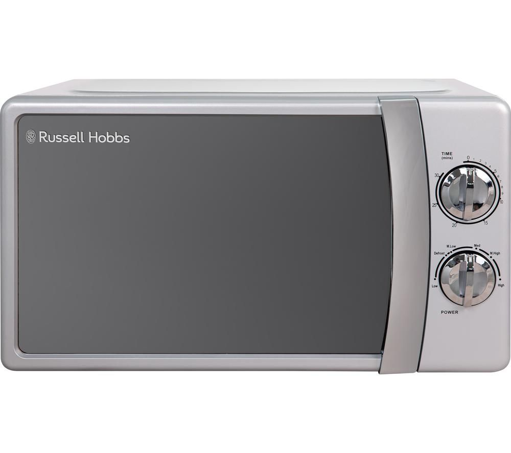 RUSSELL HOBBS RHMM701S-N Solo Microwave - Silver, Silver