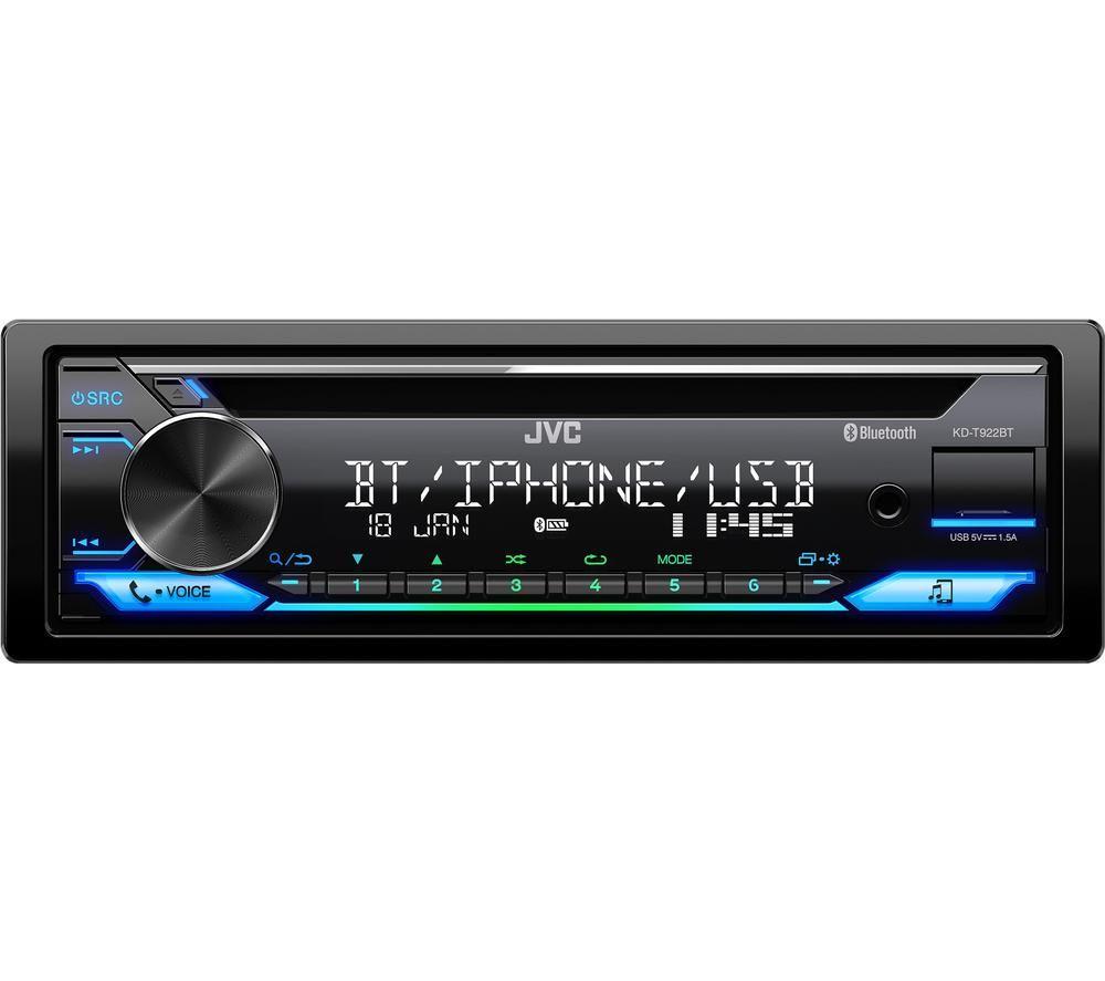Image of JVC KD-T992BT Car Receiver - Black, Black