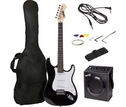 RJEG02-SK-BK Electric Guitar Bundle - Black
