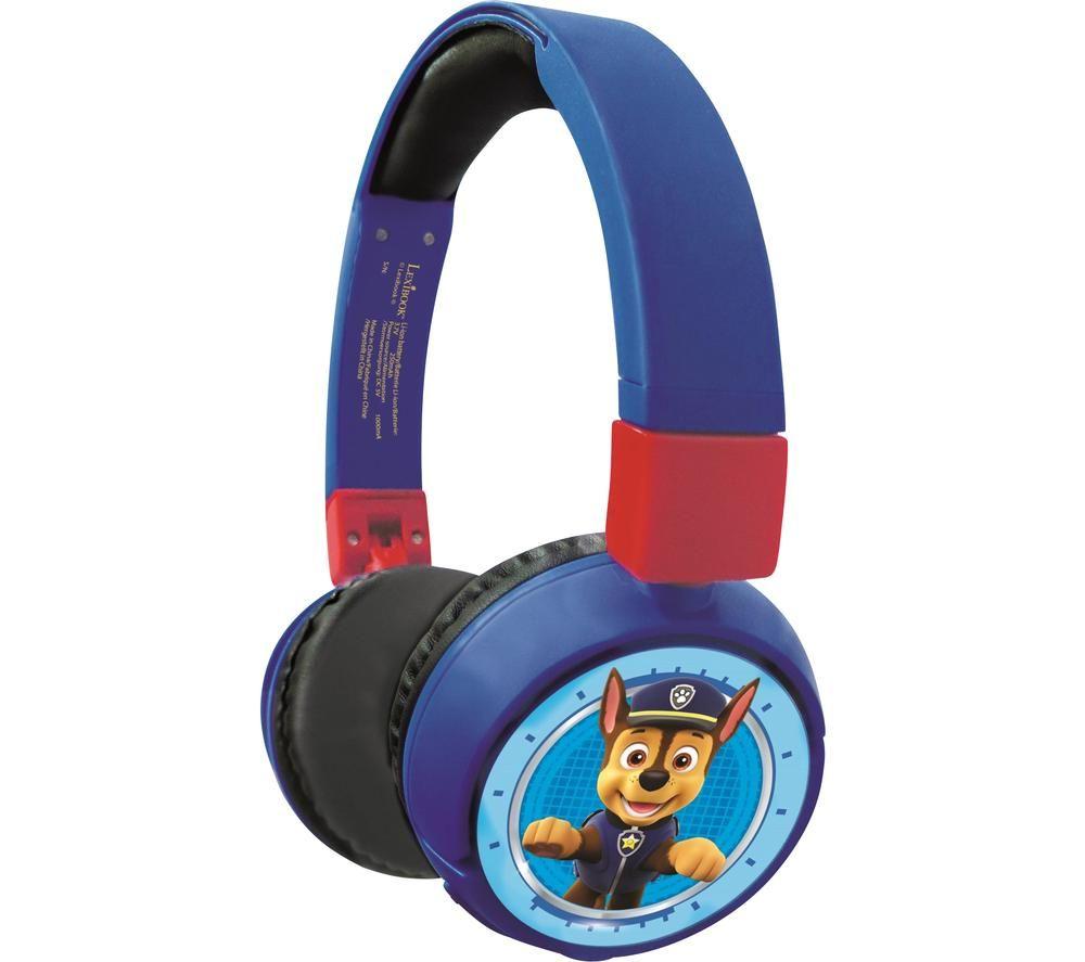 LEXIBOOK HPBT010PA Wireless Bluetooth Kids Headphones - Paw Patrol
