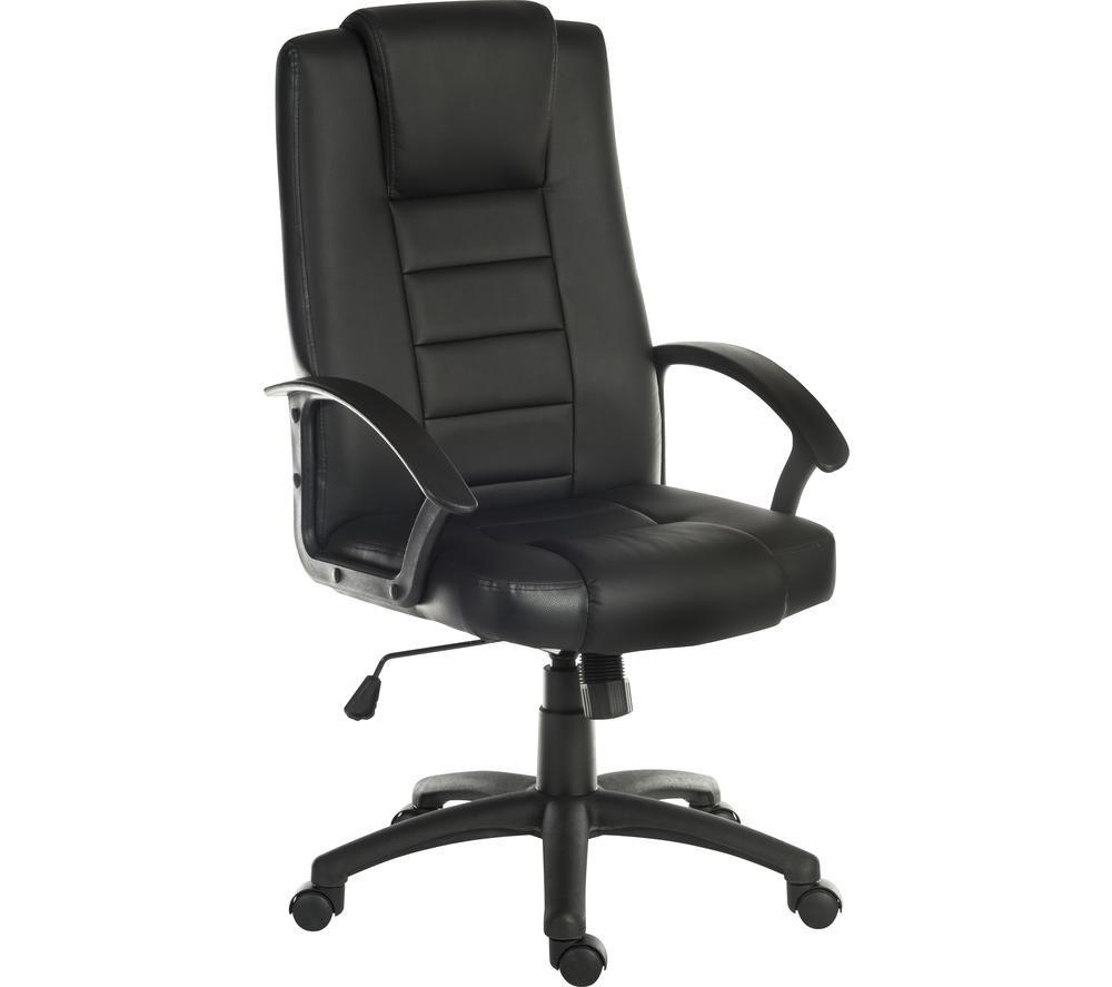 TEKNIK Leader 6987 Bonded Leather Tilting Executive Chair - Black