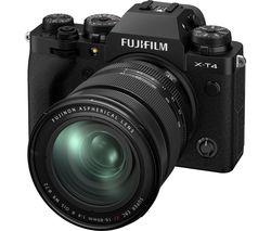 X-T4 Mirrorless Camera with FUJINON XF 16-80 mm f/4 R OIS WR Lens - Black