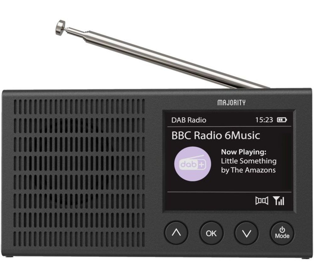 Image of MAJORITY EDD-DAB-BLK Eddington Portable DABﱓ Smart Bluetooth Radio - Black, Black