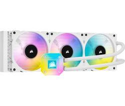 iCUE H150i XT Liquid 360 mm CPU Cooler - RGB LED, White