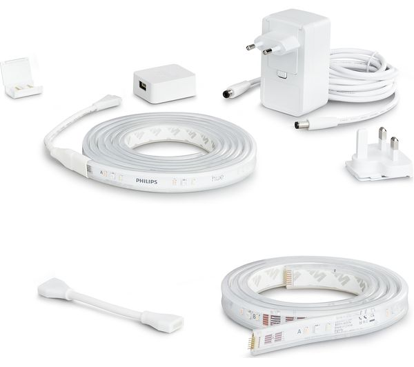 Image of PHILIPS HUE Hue White & Colour Ambiance Smart LED Lightstrip Plus with Extension - 3 m