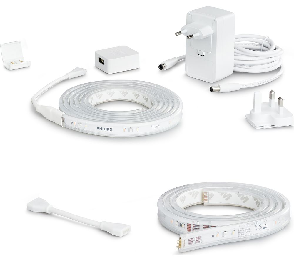PHILIPS HUE White & Colour Ambiance Smart LED Lightstrip Plus with Extension - 3 m