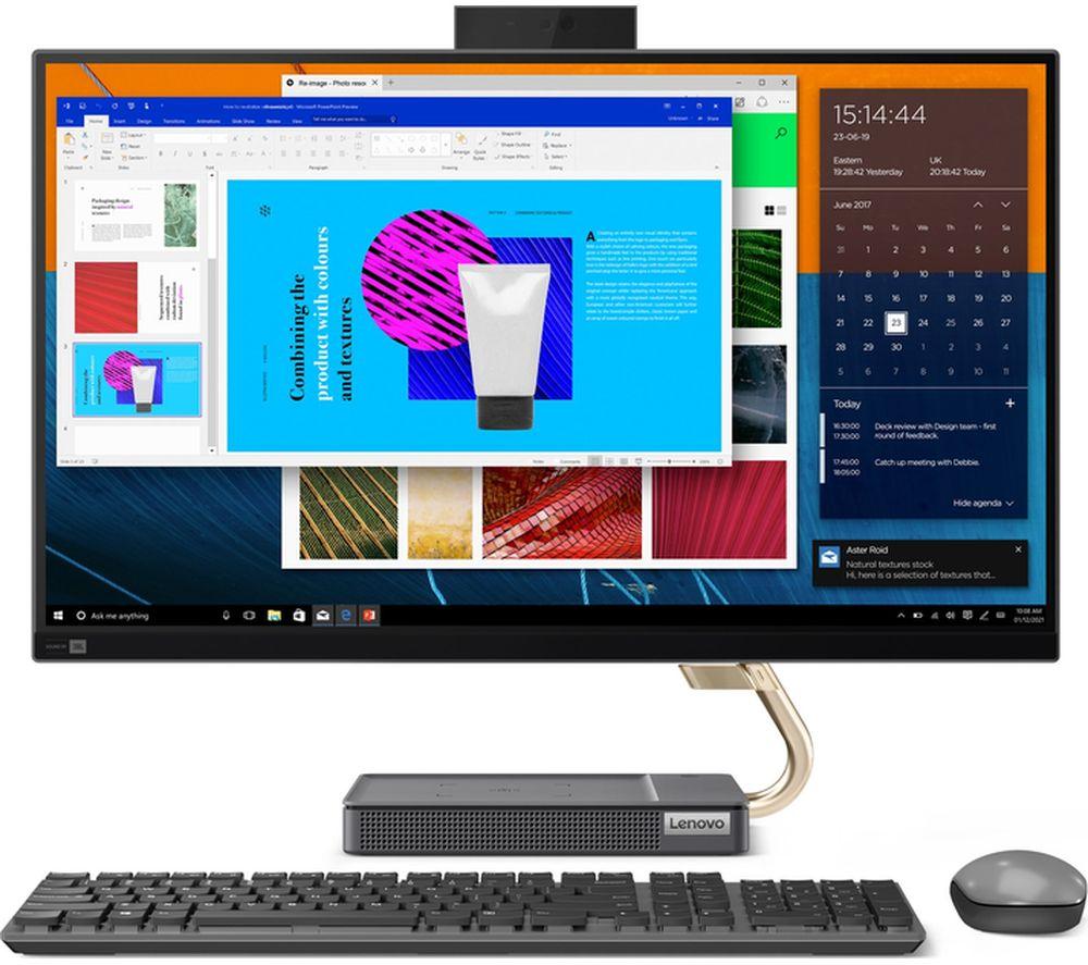 "Image of LENOVO IdeaCentre AIO 5i 27"" All-in-One PC - Intel® Core™ i5, 512 GB SSD, Grey"