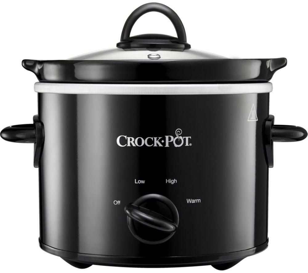 Crock Pot Csc080 Slow Cooker Black Black