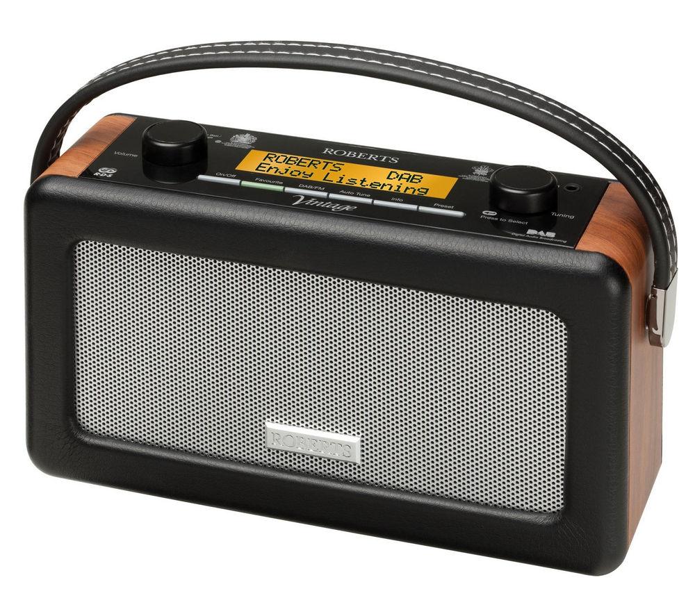 ROBERTS Vintage Portable DAB Radio - Black