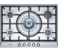 BOSCH Classixx PCQ715B90E Gas Hob - Brushed Steel