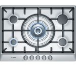 BOSCH PCQ715B90E Gas Hob - Brushed Steel
