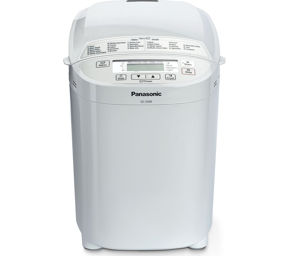 Image of PANASONIC SD-2500WXC Breadmaker - White, White