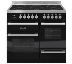 BRITANNIA RC10XGIDEK Electric Induction Range Cooker - Gloss Black & Stainless Steel