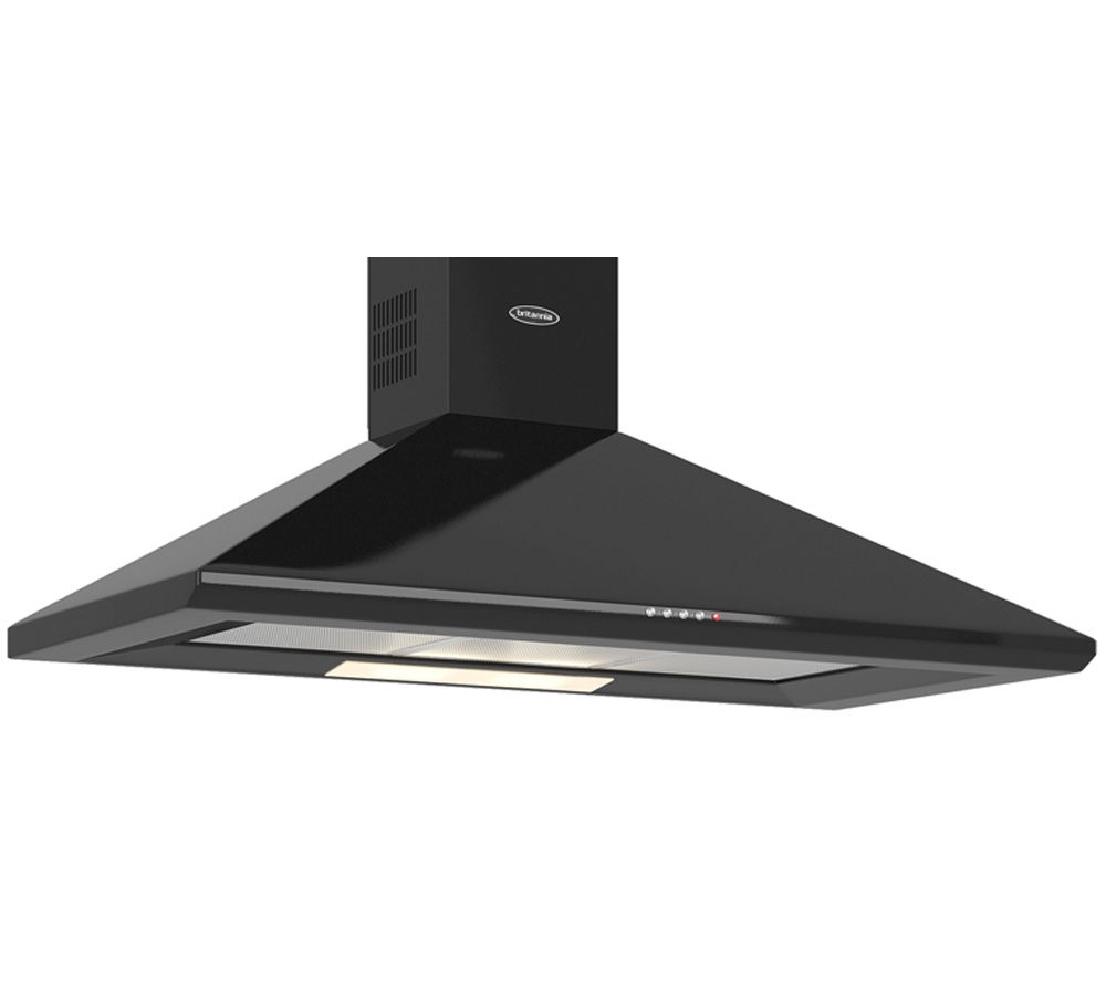 BRITANNIA Brioso K24010K Chimney Cooker Hood - Gloss Black