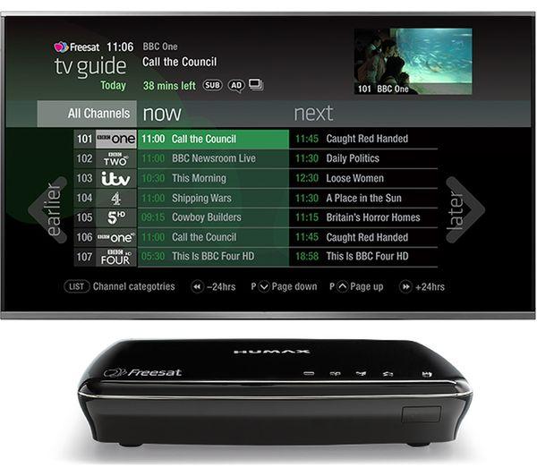 HUMAX HDR-1100S B Freesat HD Smart Digital TV Recorder - 500 GB