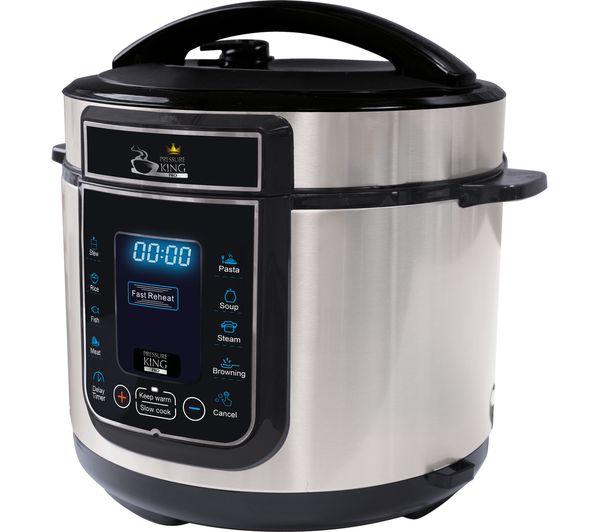 Buy PRESSURE KING Pro Digital Pressure Cooker - Chrome