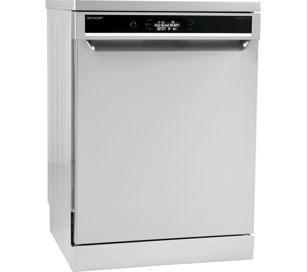 SHARP QW-GT45F444I Full-size Dishwasher - Stainless Steel