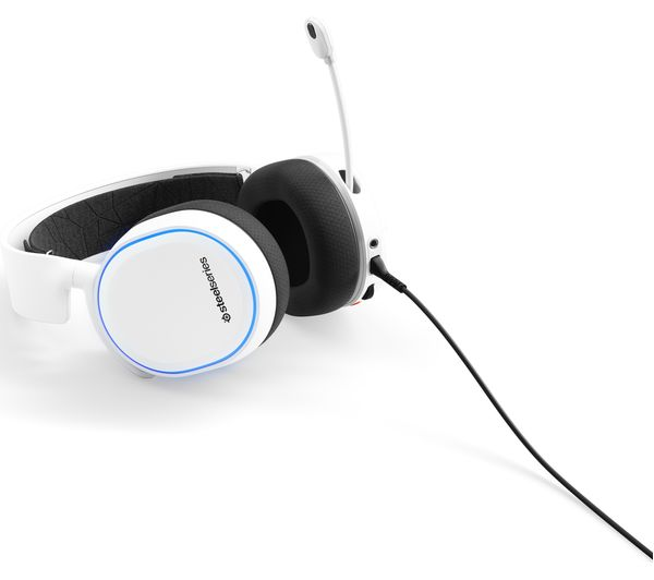 STEELSERIES Arctis 5 7 1 Gaming Headset - White