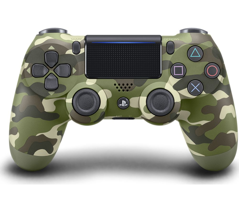 PLAYSTATION 4 DualShock 4 V2 Wireless Controller - Green Camo, Green